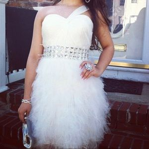 Short white special occasion dress